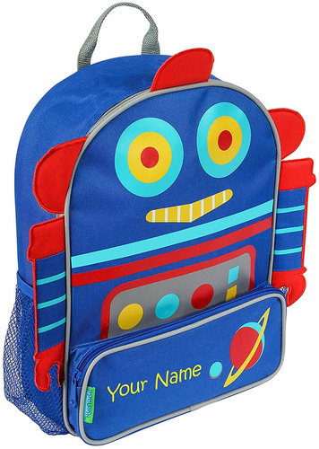 mochila personalizada stephen joseph robot sidekick con n...