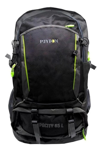 mochila peyton 65 litros urbana trekking viaje reforzada