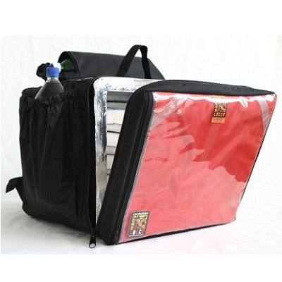 mochila pizza preta/vermelha 45 litros cachorro locco