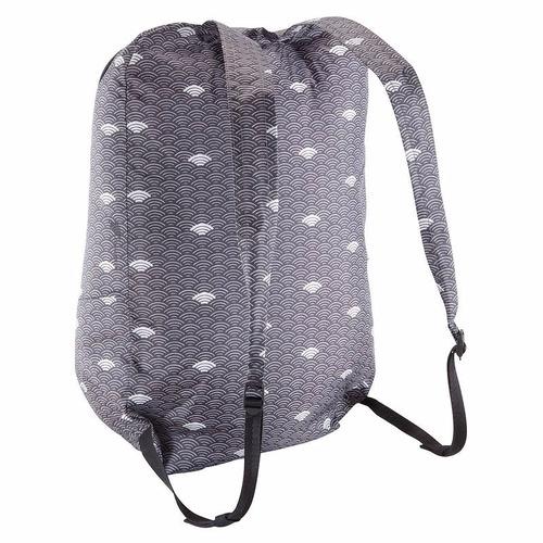 mochila plegable pocket bag nubes gris