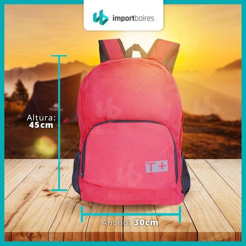 mochila plegable travel tech comoda viaje liviano bolso
