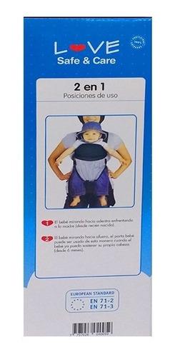 mochila porta bebe 2 en 1 love 4005 hasta 9 kilos