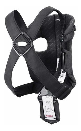 mochila porta bebé original, negro, algodón