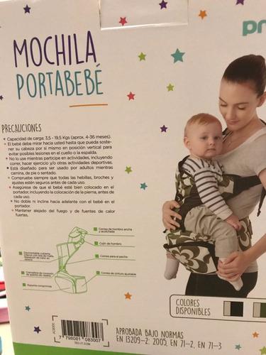mochila porta bebe  priori de 3,5 a 19 kilos a8300