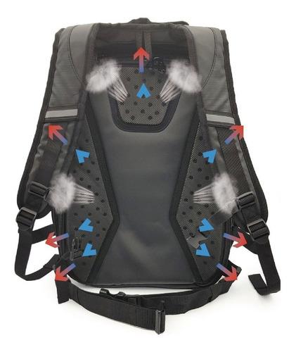 mochila porta casco impermeable moto kossok thunder storm