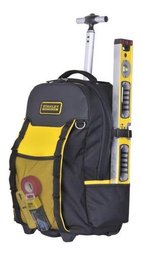 mochila porta herramientas stanley con ruedas y manija