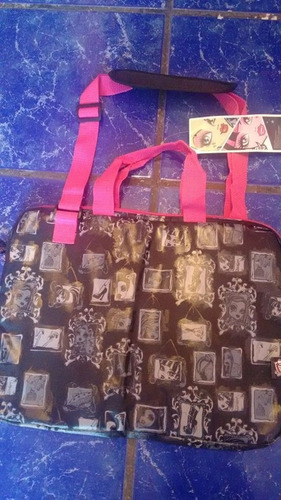 mochila porta laptop monster high mattel  2012