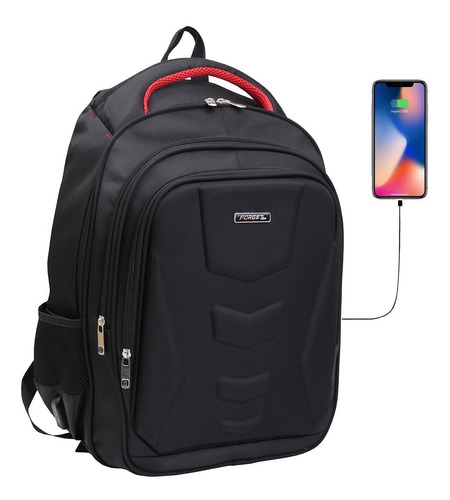 mochila porta notebook 17 smart usb tablet acolchada con cuotas sin interes
