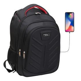 Mochila Porta Notebook 17' Tablet Usb Acolchada Smart Urbana
