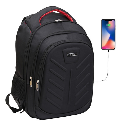 mochila porta notebook 17' tablet usb acolchada smart urbana