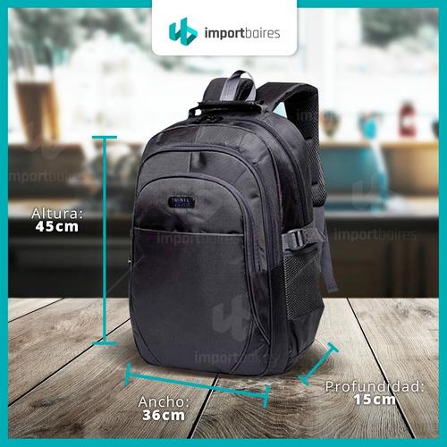 mochila porta notebook laptop  acolchada reforzada gran capacidad ejecutiva urbana gym deportiva unisex hombre mujer