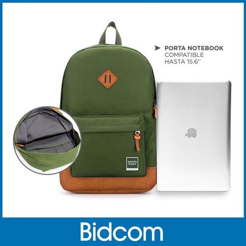 mochila porta notebook urban mujer/hombre base cuero
