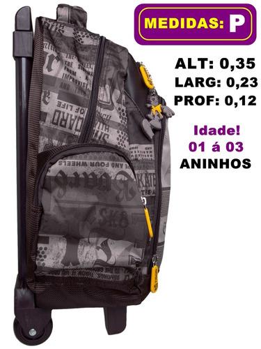 mochila pré escolar rodinhas tigor t tigre baby - frete grát