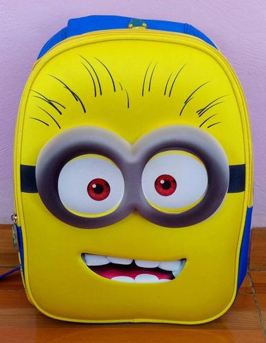 mochila primaria 3d importada minion mi villano favorito