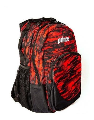 mochila prince team preta e vermelha raquete notebook escola