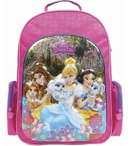 mochila princesas 3d 30384 original grande escolar