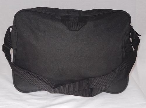 mochila puma de hombro tela nueva negra