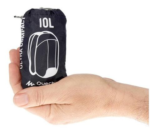 mochila quechua arpenaz 10 ultra compacta negro