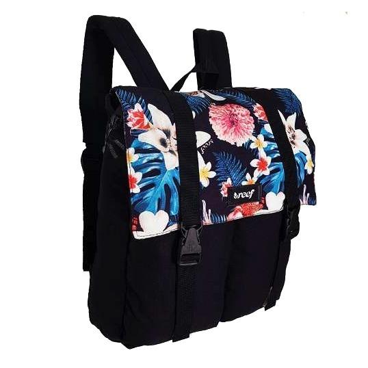 fc8906fec Mochila Reef Negra Flores Mujer Urbana Porta Notebook Bagsy ...