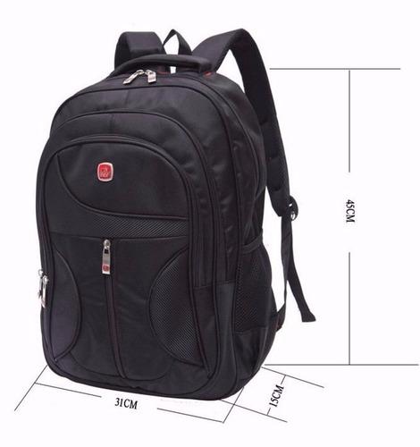 mochila reforçada com porta notebook masculina fem ref 193
