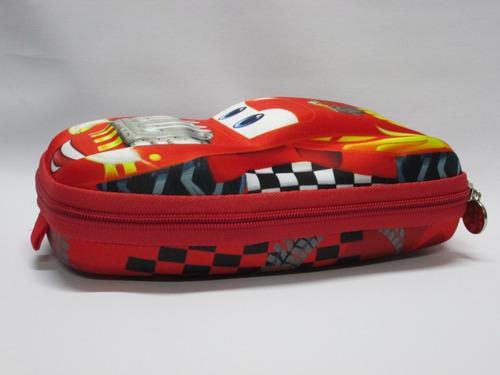 mochila relâmpago mcqueen infantil escola rodinhas carro 3d