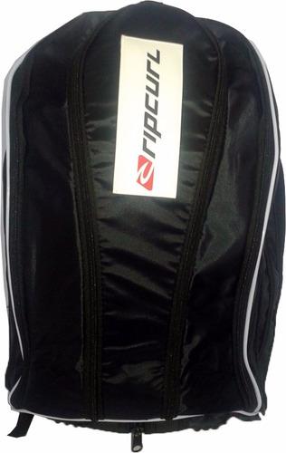 mochila rip curl preta capa para chuva  espaço para notebook