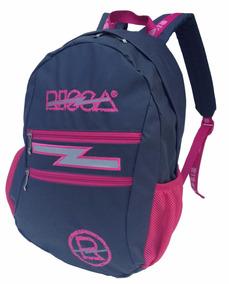 57f392b06 Mochila Risca 9061 Cinza/pink-emborrachada Fem. Gar. 2 Anos