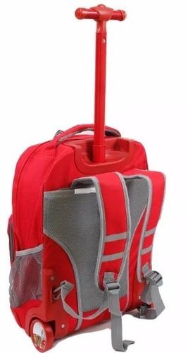 mochila rodante jworld roja con ruedas.