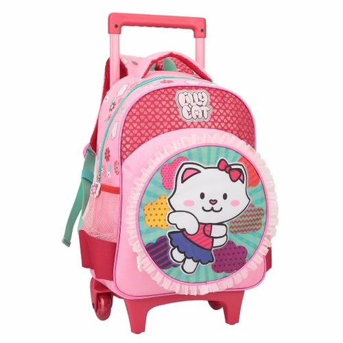 mochila rodinha infantil carrinho escolar feminina original