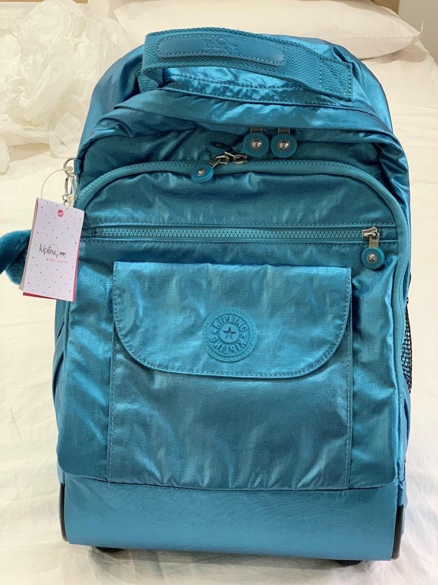 470e74c46 Mochila Rodinha Kipling Sanaa Azul - R$ 990,00 em Mercado Livre