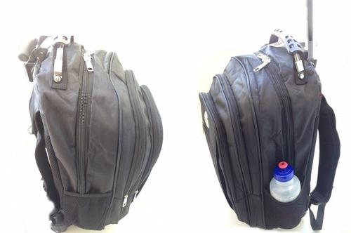 mochila rodinha roda 45 litros puxador reforçado