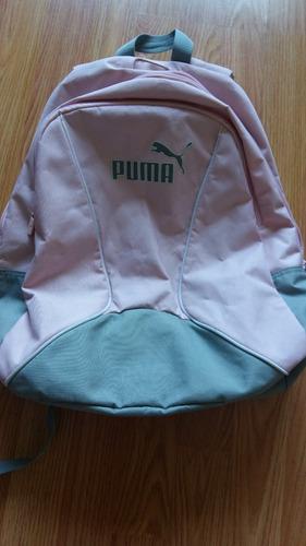 mochila rosa mujer puma