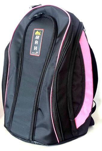 mochila rosa reforçada impermeavel notebook capa chuva m