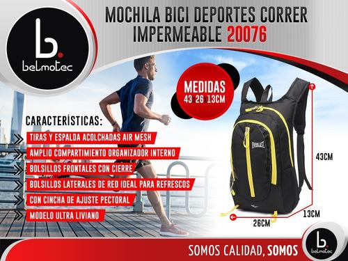 mochila running everlast original hombre mujer impermeable