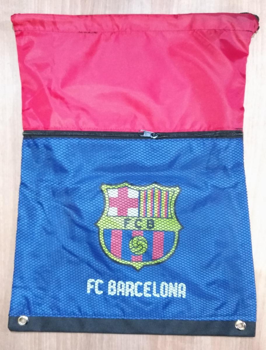 Mochila Saco De Chuteira De Futebol Barcelona Espanha - R  20 3a2894557e014