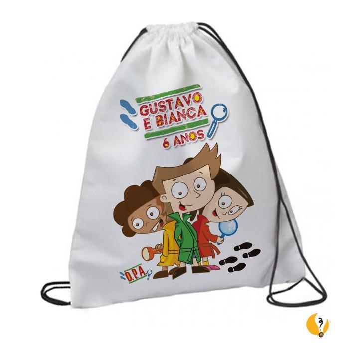 c1b85eb3f Mochila Saco Personalizada Lembrancinha Infantil - R$ 14,00 em ...