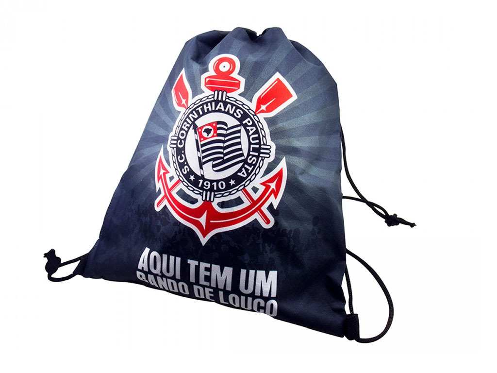 mochila saco sacola bag time futebol corinthians timão. Carregando zoom. 0beb84e05822f