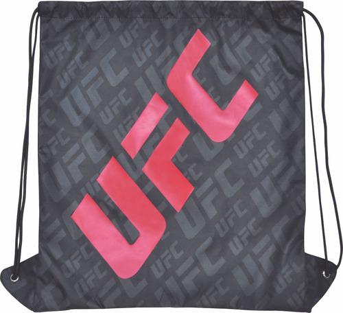 mochila sacola cordão ufc esportiva preta saco masculina