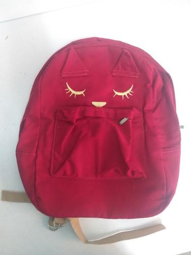 mochila sarja vermelha gato com orelhas nova