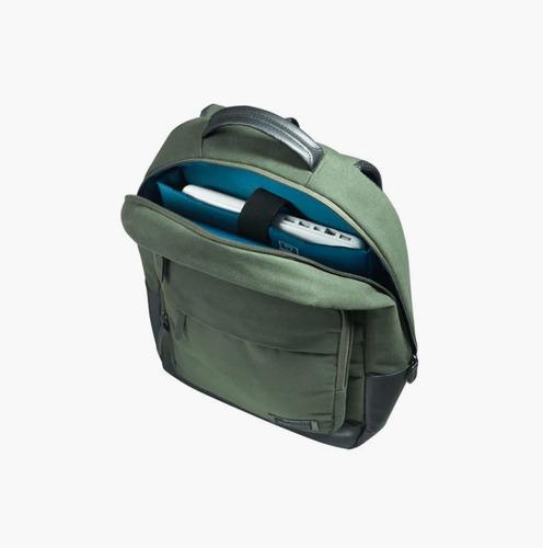 mochila saxoline original casi nueva perfecto estado verde