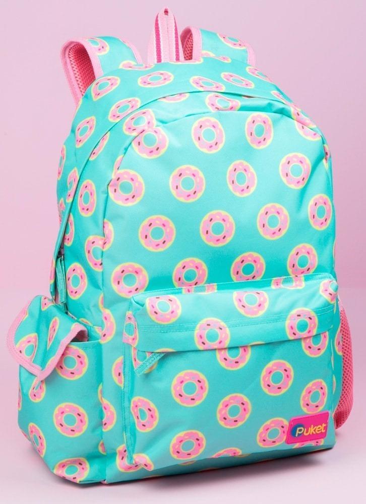 d3545056e Mochila Sem Roda Donuts - Puket - R$ 179,90 em Mercado Livre