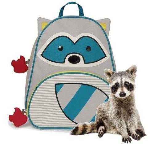 mochila skip hop mapache infantil original 100% cod 210229