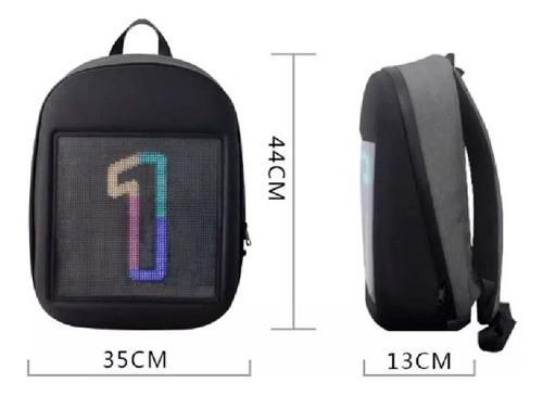 mochila smartled usb wifi pantalla luces impermeable 15´´