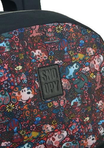 mochila snoopy com chaveiro -48512
