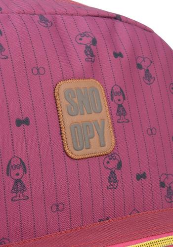 mochila snoopy com chaveiro vinho -48507