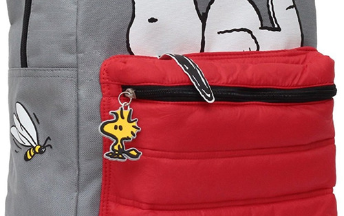 mochila snoopy original, con etiquetas morral + envío gratis