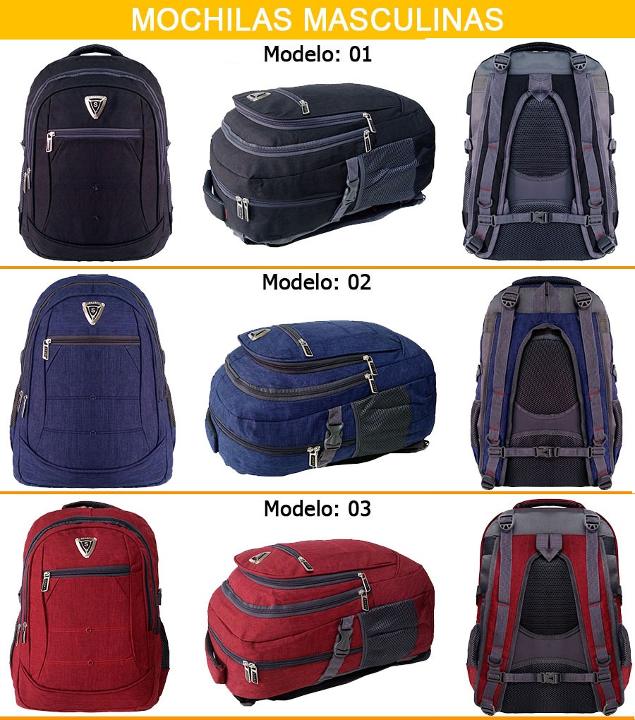 c366fce65 mochila sport preta masculina compartimento para notebook. Carregando zoom.
