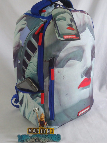 mochila sprayground liberty new york real series importada