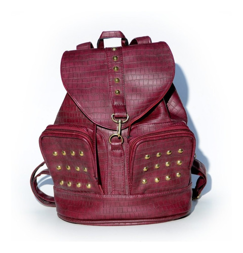 mochila star croco bordeaux scissors queens