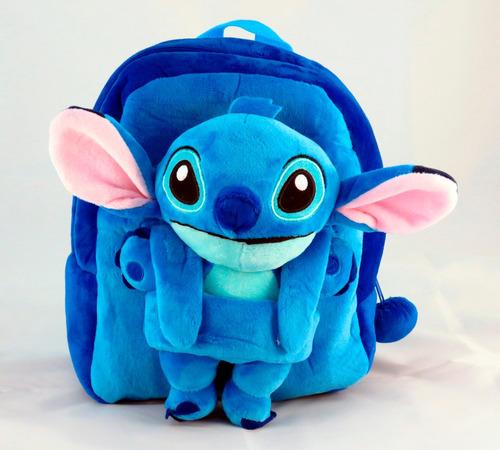 mochila stitch con peluche desmontable lilo y stitch